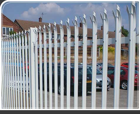 rushcliffe fencing steel security fencing palisade and. Black Bedroom Furniture Sets. Home Design Ideas